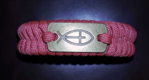 Jesus Fish with Cross  (Ichthys Fish) Paracord Bracelet