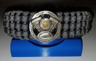 VTwin Engine Medallion - Tracks Weave Paracord Survival Bracelet