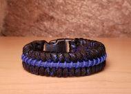 Thin Blue Line Police Metallic Blue Paracord Survival Bracelet