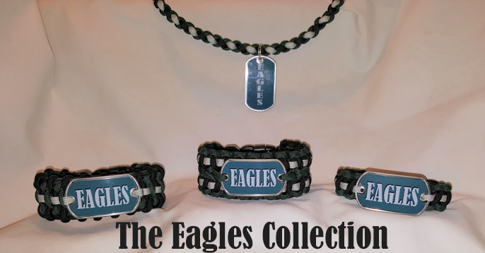 Phliadelphia Eagles Paracord Bracelets & Necklaces