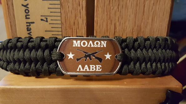 Molon Labe (come and take them) Bracelet